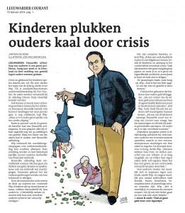 kinderen plukken ouders kaal door crisis